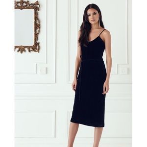 NWT Paige Tressa Velvet Slip Dress